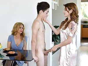 FamilyStrokes - Teen Stepsiblings Fuck in Front of Stepmom